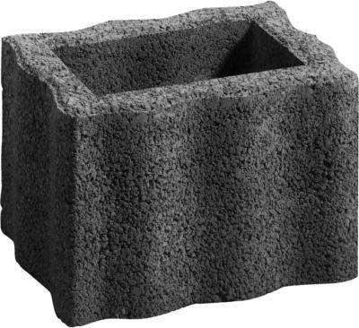 Pflanzstein Wellino Anthrazit 30 cm x 20 cm x 20 cm