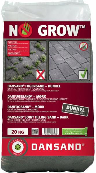 Dansand Fugensand No Grow unkrauthemmend Fugenbreite 1 mm - 5 mm Anthrazit 20 kg