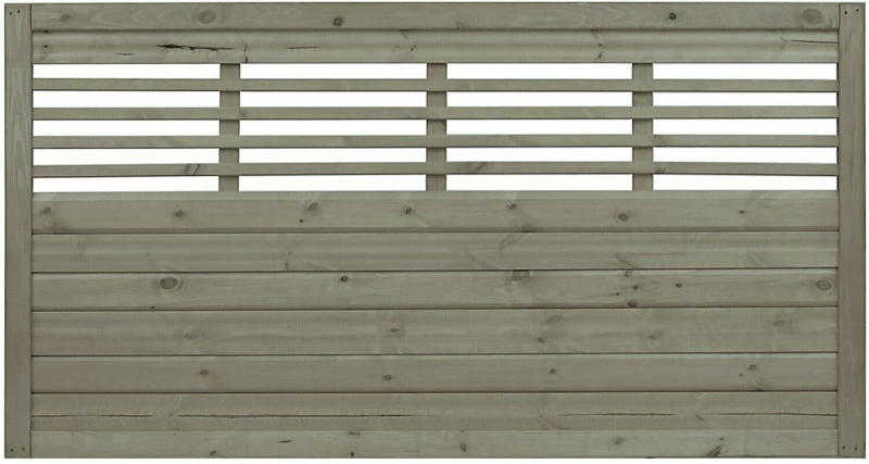 Sichtschutzzaun Element Nicea Grau 90 cm x 180 cm