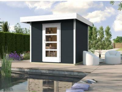 Weka Holz-Gartenhaus wekaLine Anthrazit BxT: 205 cm x 211 cm