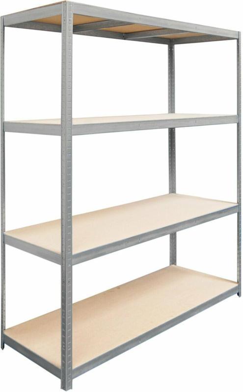 Metall-Schwerlast-Steckregal 180 cm x 160 cm x 60 cm Verzinkt