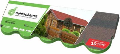 Bitumen-Biberschindel Braun 2 m²/ Paket