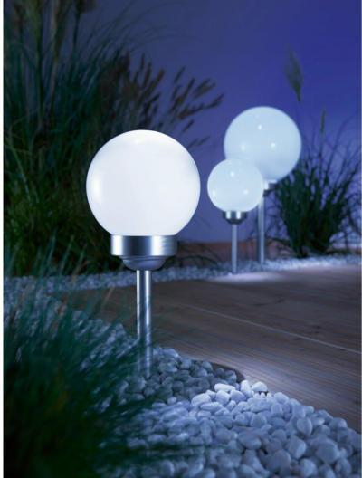 LED-Solarkugel mit Erdspieß Bojano Ø 10 cm