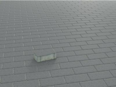 Rechteck-Pflaster Beton Anthrazit 20 cm x 10 cm x 6 cm
