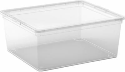 Aufbewahrungsbox C M mit Deckel Transparent