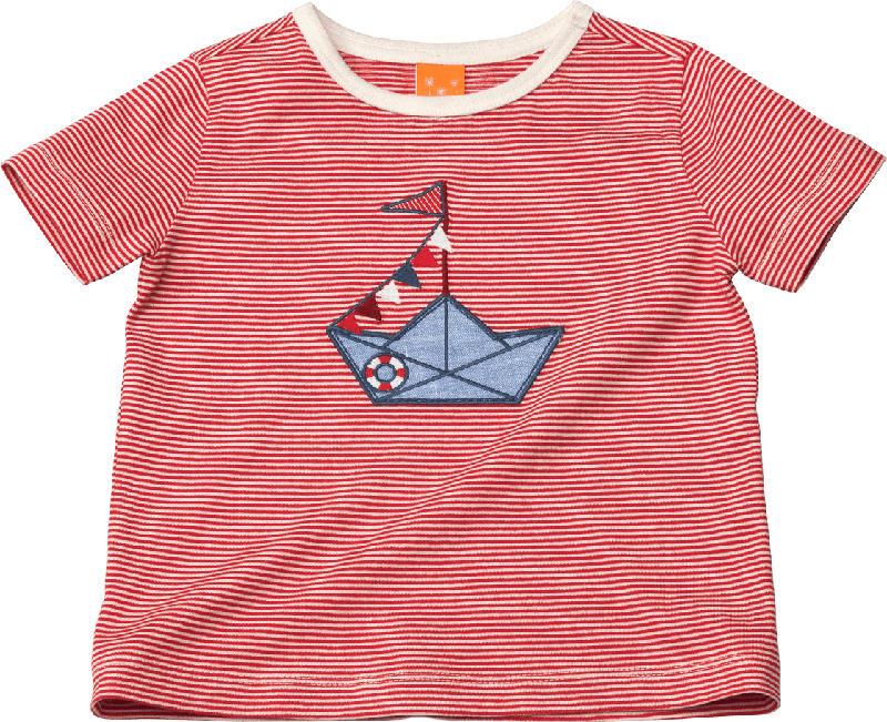 PUSBLU Kinder Shirt, Gr. 92, in Baumwolle, rot