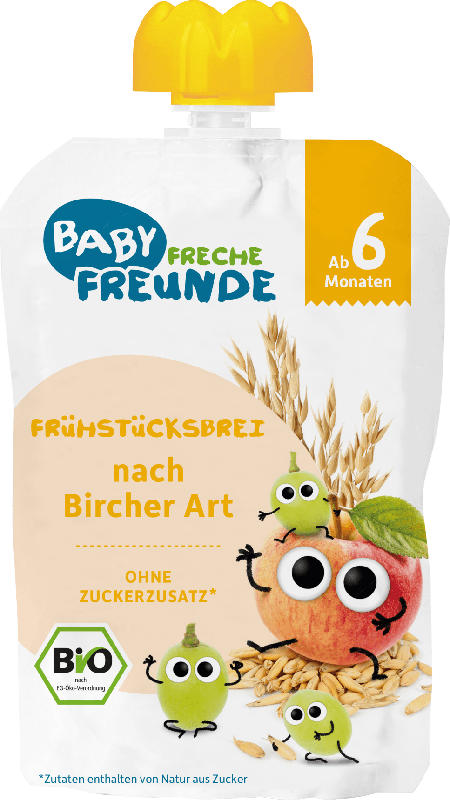 Freche Freunde Frühstücksbrei Frucht & Getreide Bircher Art ab dem 6. Monat