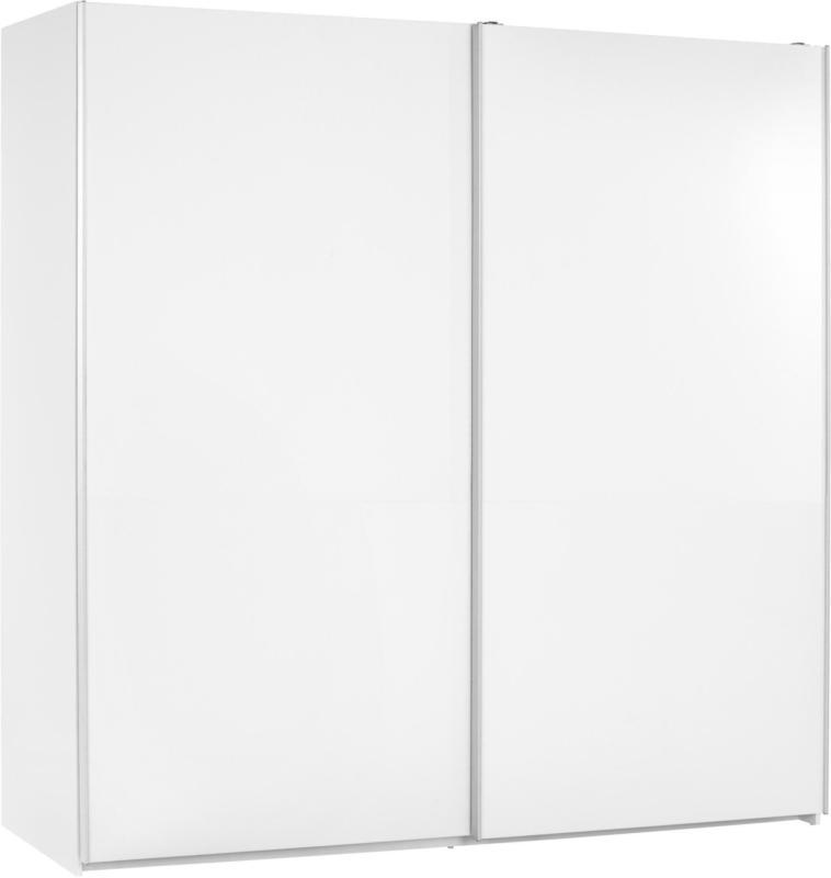 Schwebetürenschrank in Weiß ca. 215x210x61cm