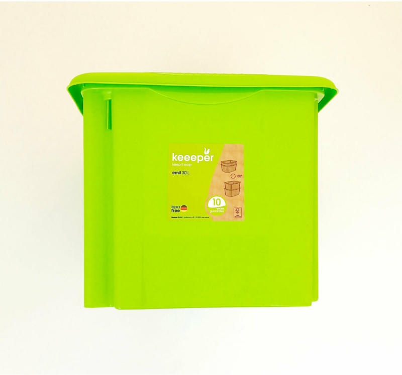 "Aufbewahrungsbox ""Emil"", 45x27x35 cm, 30 L, grün gruen"