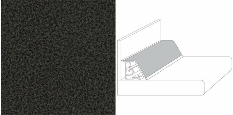 "Wandanschlussprofil Compact 590x27x35mm ""granitino anthrazit"""