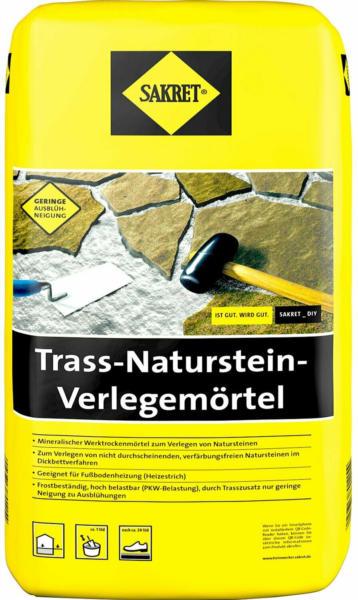 Sakret Trass- Natursteinverlegemörtel Grau 25 kg