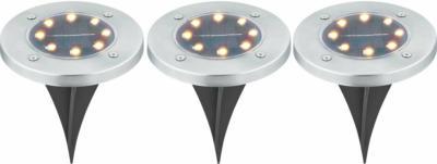 LED-Solar-Bodeneinbauleuchten 3er-Set