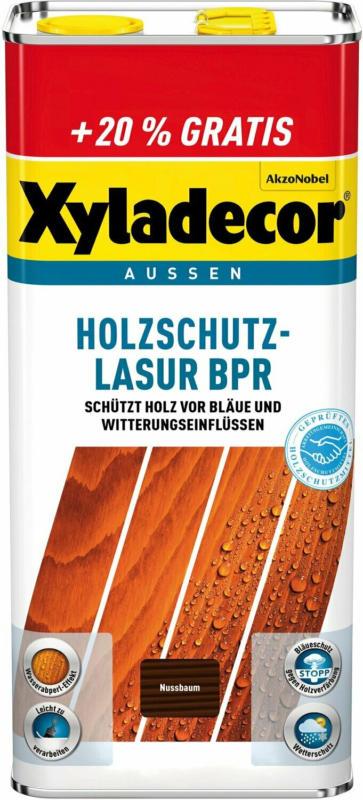 Xyladecor Holzschutz-Lasur BPR Nussbaum  6 l