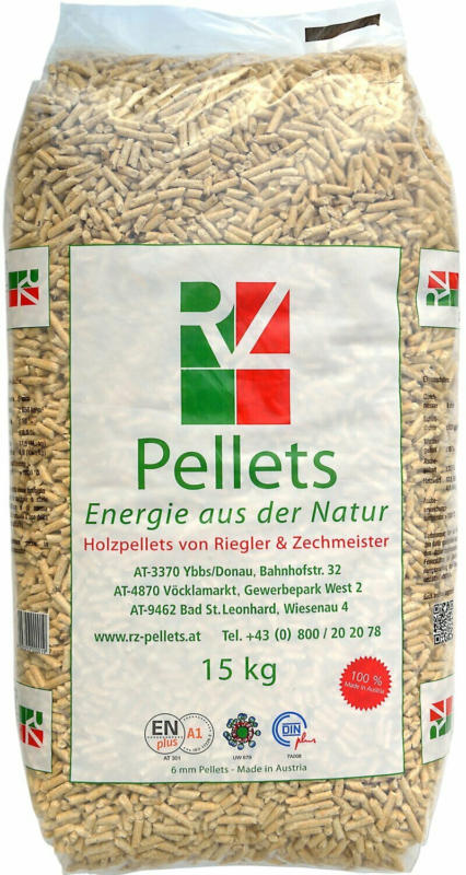 RZ Holzpellets Ø 6 mm Sackware 15 kg