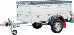 Pongratz Anhänger-Set LPA 206 G inkl. Aufsatzwände 360 mm, Flachplane + Stützrad