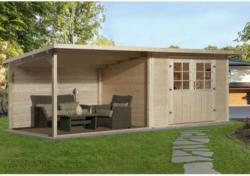 Weka Holz-Gartenhaus Como Natur B x T: 598 cm x 300 cm