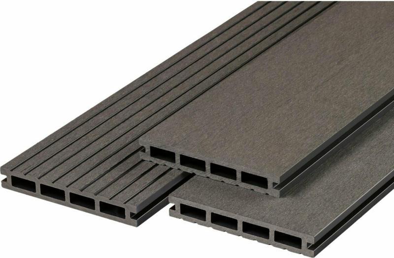 Terrassendiele WPC Anthrazit 2,1 cm x 14,5 cm x 300 cm
