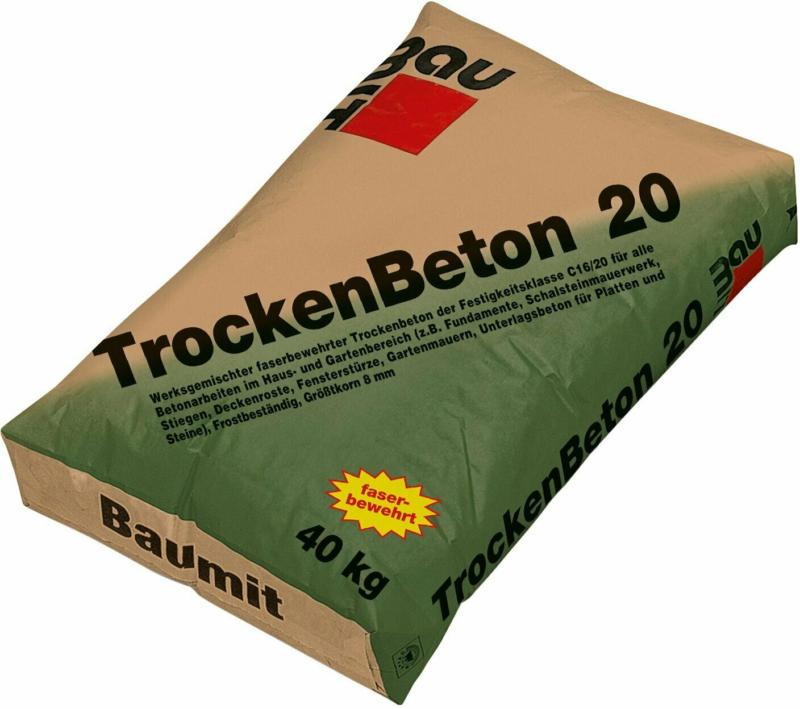 Baumit Trockenbeton 20 normalfest 40 kg Festigkeitsklasse C16/20