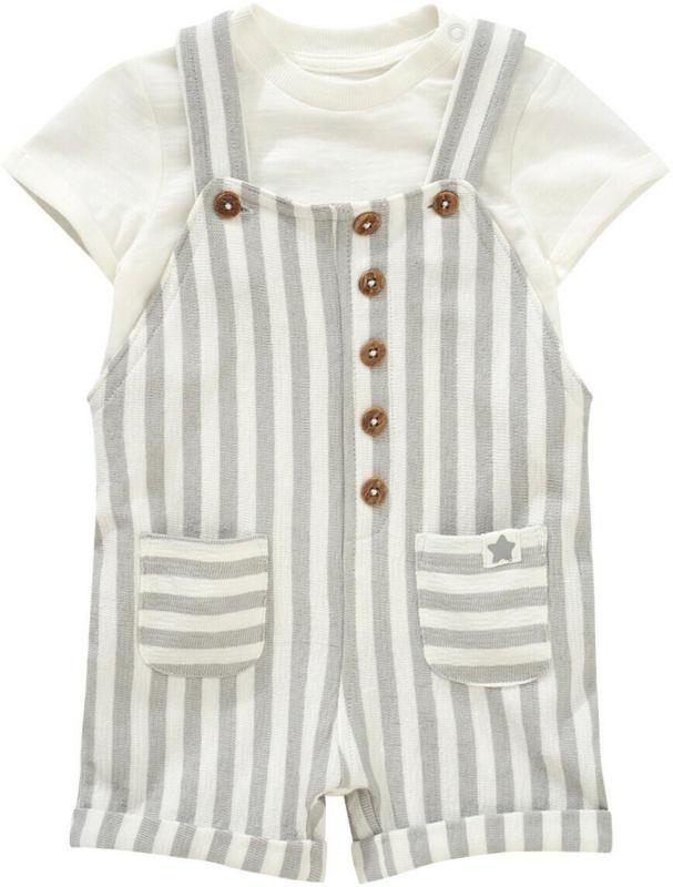 Baby Latzshorts und T-Shirt im Set (Nur online)