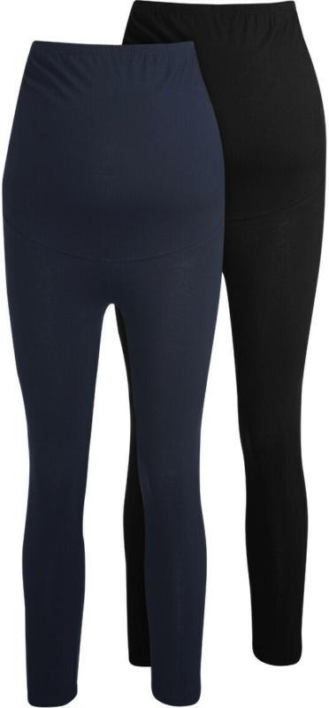 2 Damen Umstands-Capri-Leggings im Set