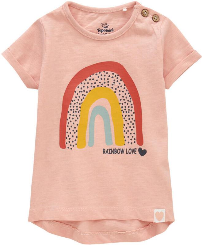 Baby T-Shirt mit Regenbogen-Print (Nur online)