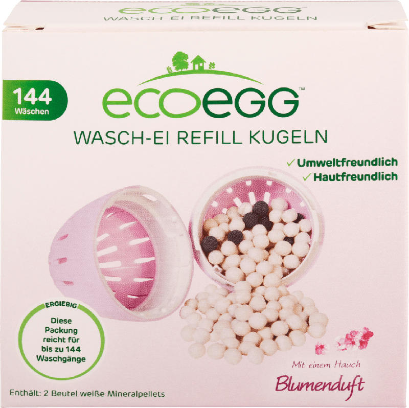 Ecoegg Waschei mit Blumenduft Refill Kugeln Nachfüller