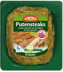 Putensteaks in Joghurt-Kräutermarinade