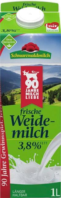 Schwarzwaldmilch frische Weidemilch