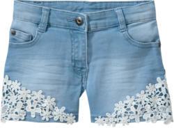 Mädchen Jeansshorts mit Spitzendetails (Nur online)