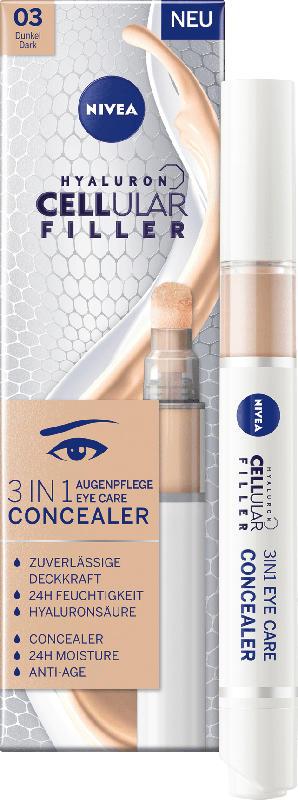 NIVEA Augenpflege Concealer 3in1 dunkel