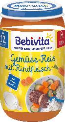 Bebivita Menü Gemüse-Reis mit Rindfleisch, ab dem 12. Monat