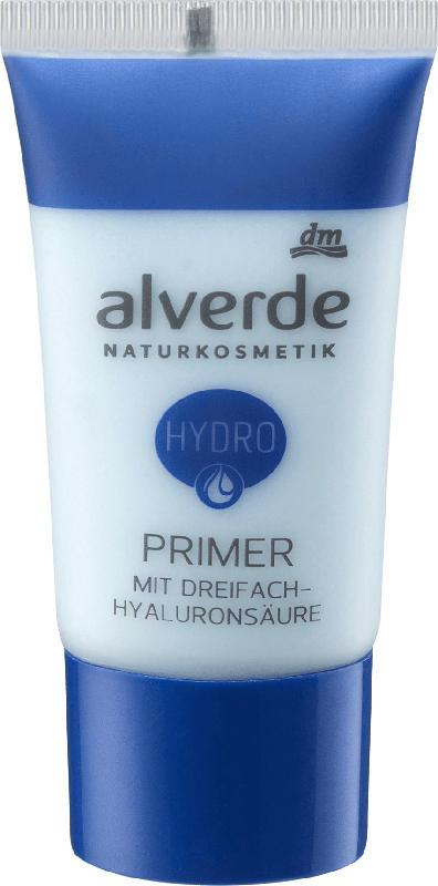 alverde NATURKOSMETIK Make-up Primer Hydro Primer mit Dreifach-Hyaluronsäure