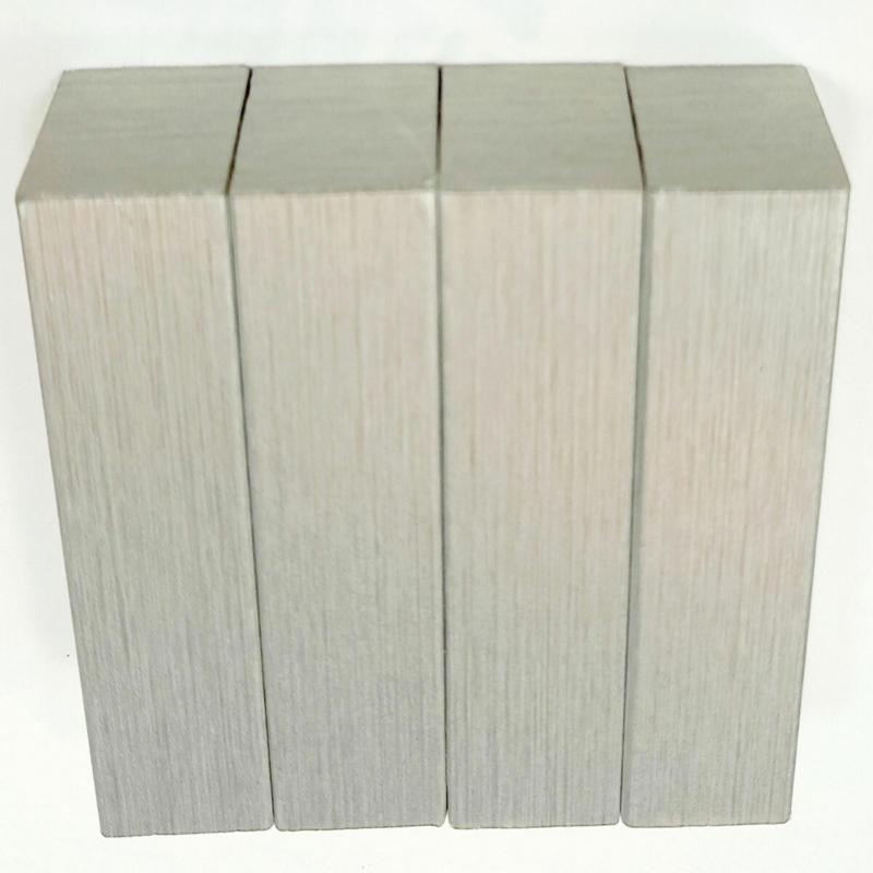 Dekor-Eckhölzer, 1,9x1,9x6 cm, 4 Stk., Stahl gebürstet Stahl gebürstet