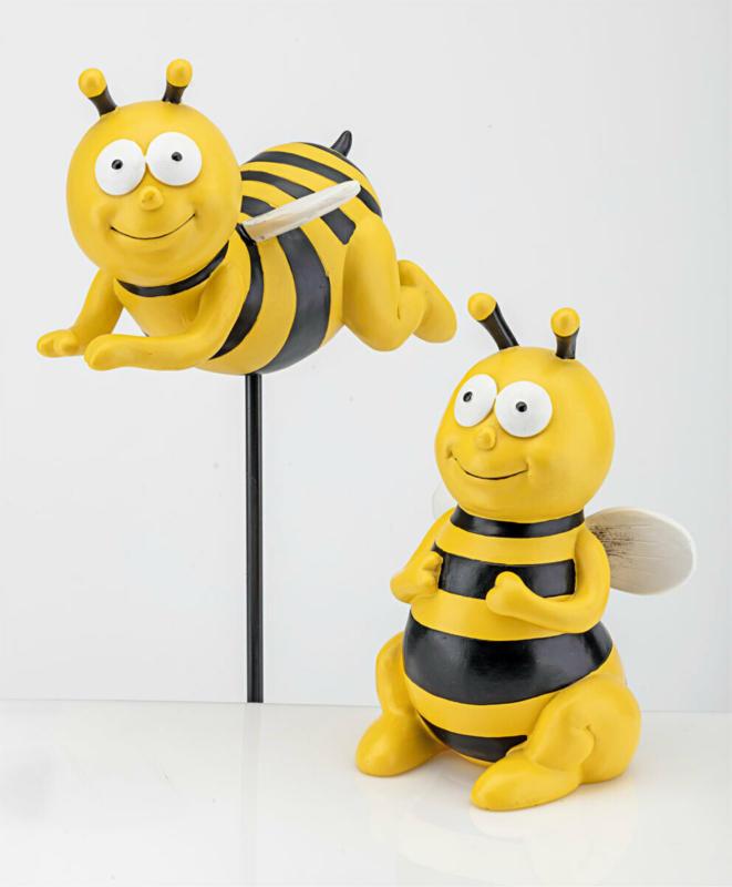 """Gartenstecker """"Biene fliegend"""" 24x14x13 cm"""