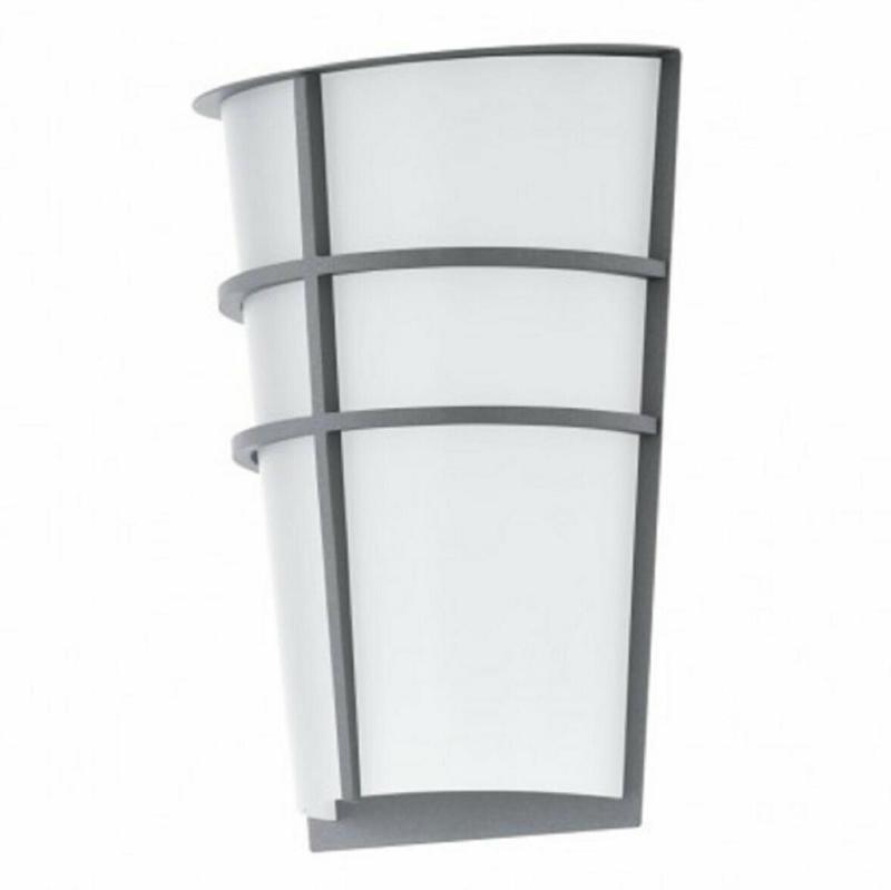 """LED Außen-Wandleuchte """"Breganzo"""", 18x25 cm, silber silber"""