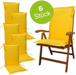 """Sitzauflage Hochlehner """"Premium"""", 6 Stück, extra dick, Gelb 6x Polsterauflage"""