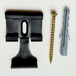 Leisten-Clips, schwarz, 3,3x3,4x0,8 cm, 30 Stk.