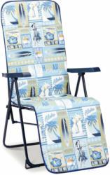 "Relaxliege ""Chiemsee"", blau Blau"