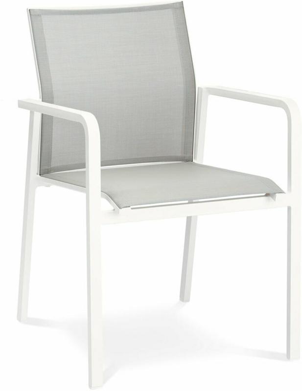 "Stapelsessel ""Rhodos"", weiß/grau Weiß/Grau"