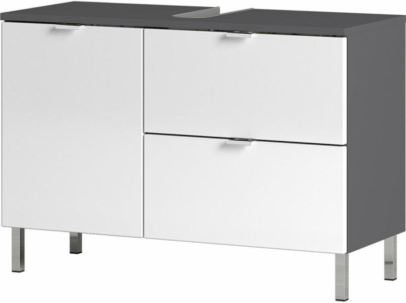 """Waschbeckenunterschrank """"Maureen"""", 1 Schubkasten, 80x56x34 cm, graphit/weiß"""