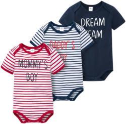 3 Baby Bodys in verschiedenen Dessins (Nur online)