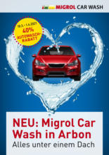 Migrol Car Wash Arbon: 40% Rabatt