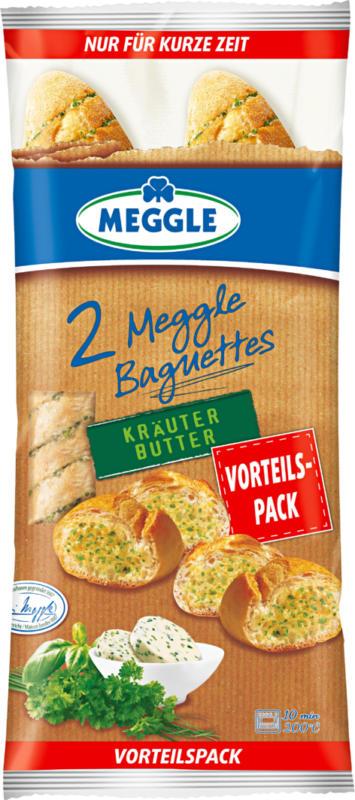 Baguette con burro alle erbe Meggle, Originale, 2 pezzi, 320 g