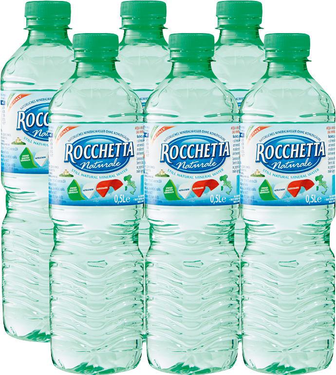 Acqua minerale Naturale Rocchetta, non gassata, 6 x 50 cl