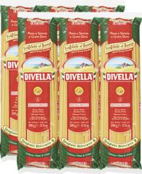 Spaghetti Ristorante 8 Divella, trafilata al bronzo, 6 x 500 g