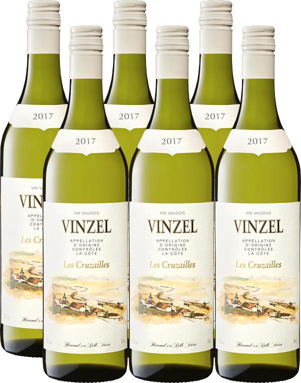Les Cruzailles Vinzel AOC La Côte , 2019/2020, Vaud, Suisse, 6 x 70 cl