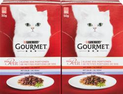 Cibo per gatti Gourmet Mon Petit Purina, assortiti: Manzo, Vitello, Agnello, 12 x 50 g