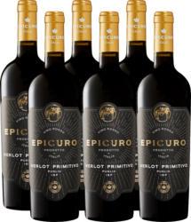 Epicuro Oro Merlot/Primitivo Puglia IGP, 2020, les Pouilles, Italie, 6 x 75 cl