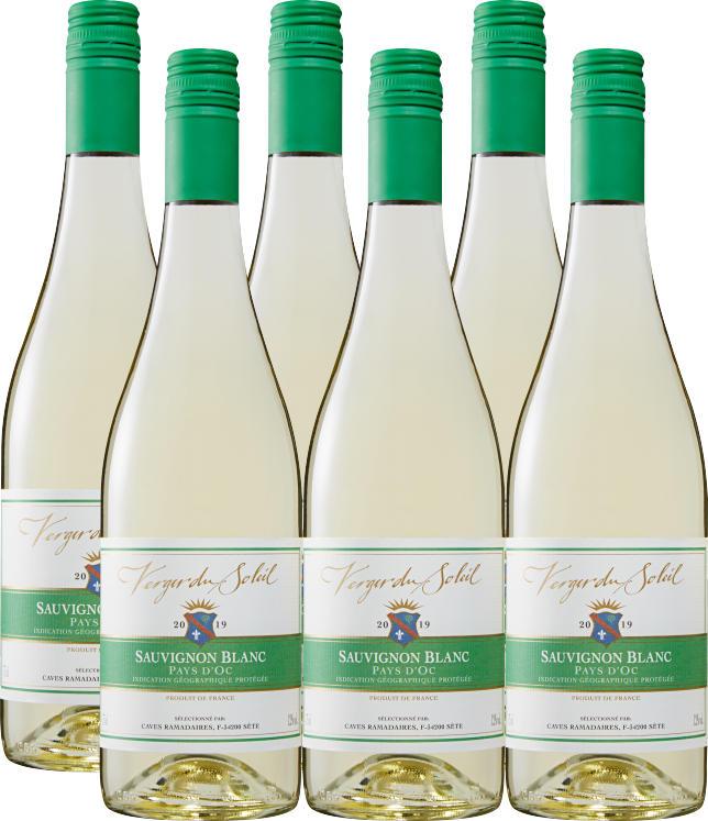 Verger du Soleil Sauvignon Blanc Pays d'Oc IGP, 2020, Languedoc-Roussillon, France, 6 x 75 cl