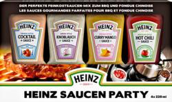 Heinz Party-Saucen, assortiert: Cocktail, Knoblauch, Curry Mango, Hot Chili, 4 x 220 ml